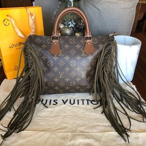 Louis Vuitton speedy 30 fringe